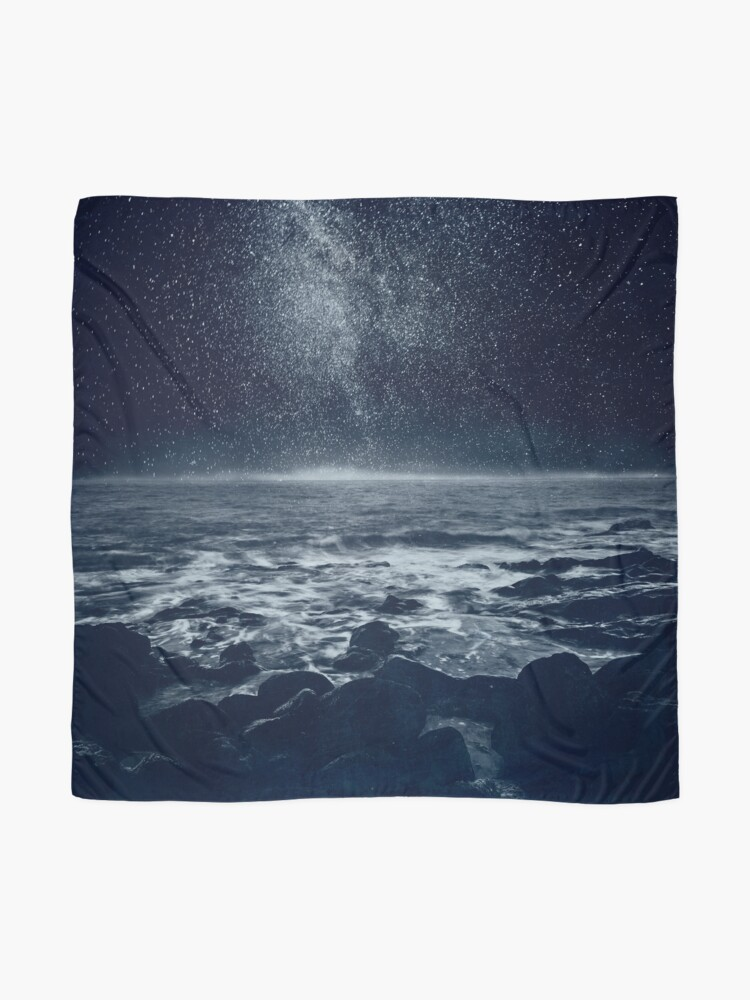 Alternate view of the Dreaming Ocean Scarf