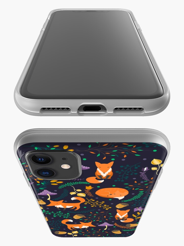 Alternate view of Foxes in the magic forest iPhone Case & Cover