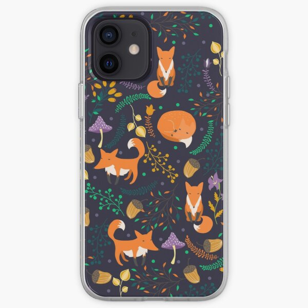 Foxes in the magic forest iPhone Soft Case