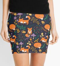 Foxes in the magic forest Mini Skirt