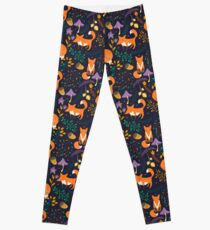 Foxes in the magic forest Leggings