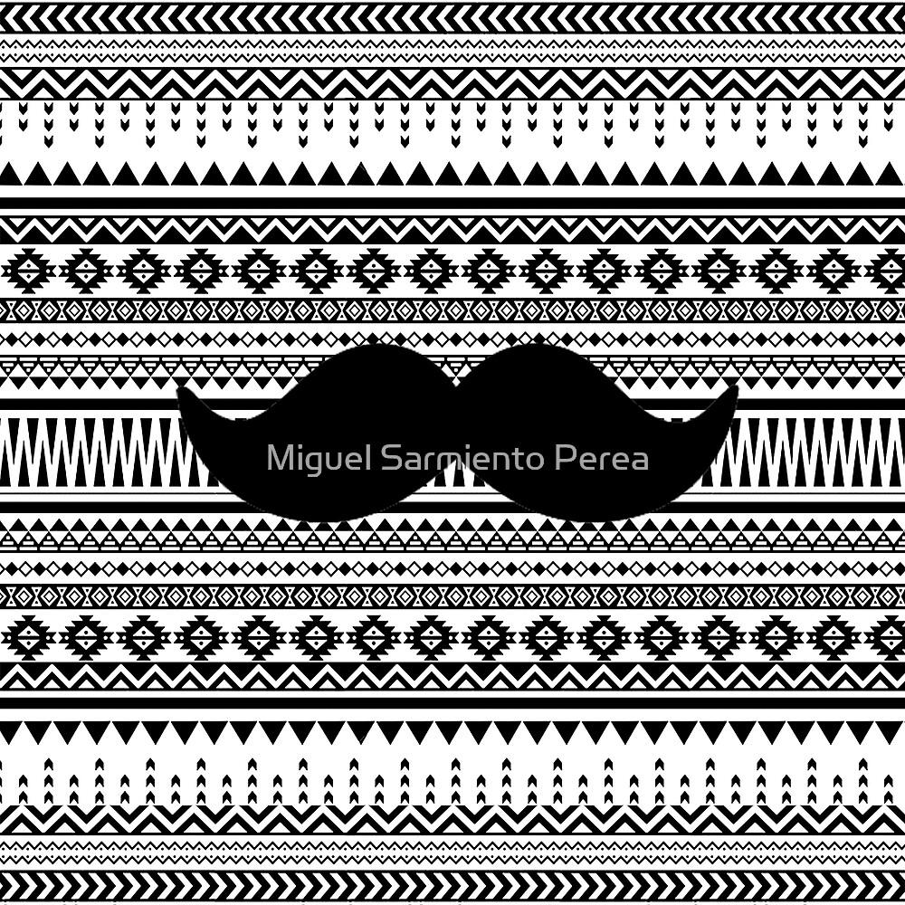Tribal Moustache by Miguel Sarmiento Perea