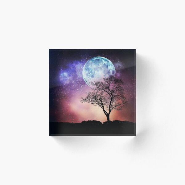 Moon Tree Acrylic Block