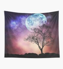 Moon Tree Wall Tapestry