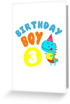 Birthday Boy 3 Years Old Gift By MemWear