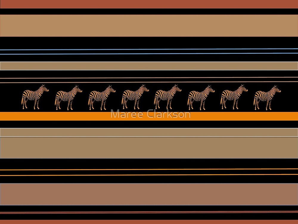 Lodge décor - Zebra safari by Maree Clarkson