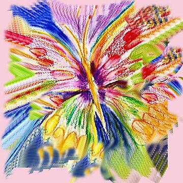 BUTTERFLY BRIGHT  MULTICOLOURED by Shoshonan