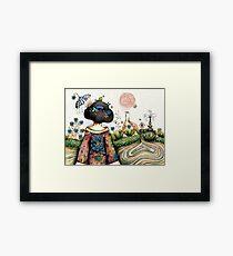 Topiary Teapot Framed Print