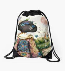 Topiary Teapot Drawstring Bag