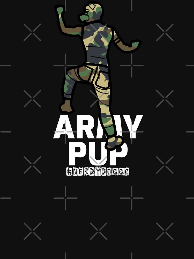Army Pup by NerdyDoggo
