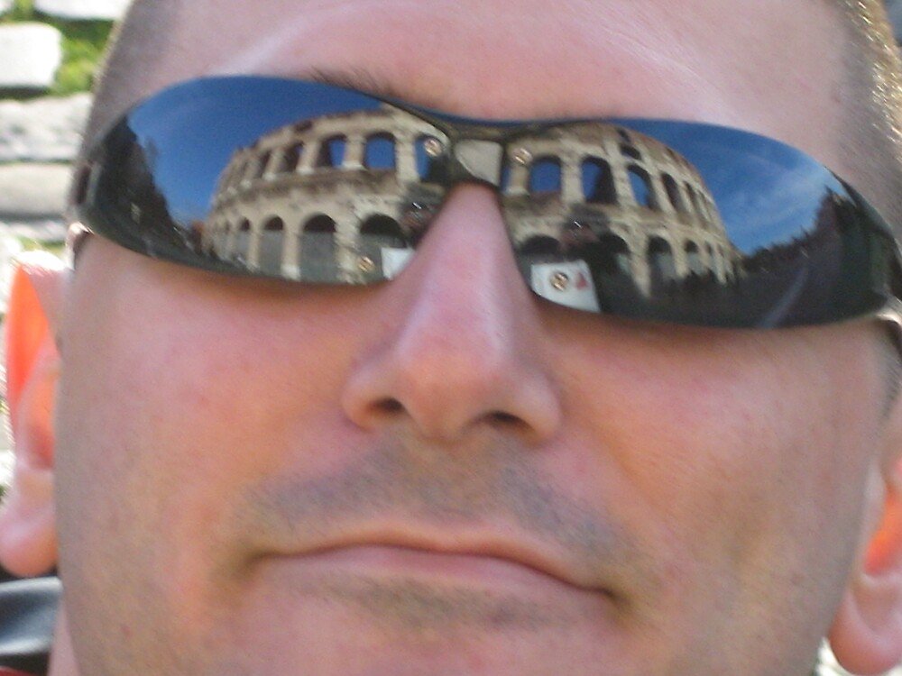 Friend  reflects the image of the Colloseum by Marichelle