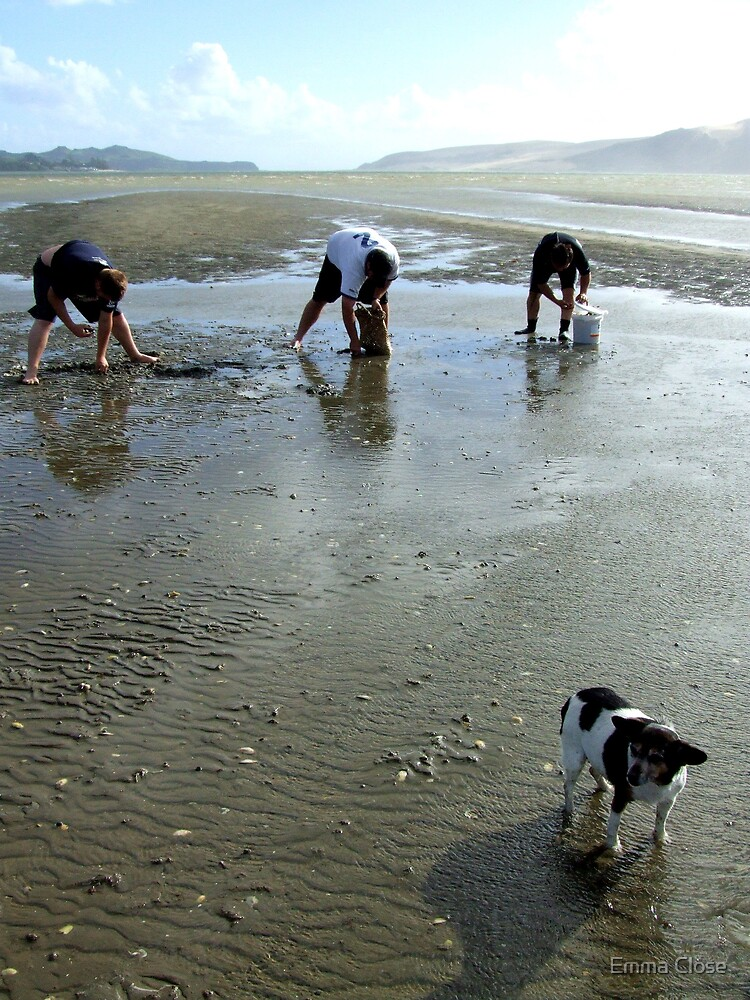 3 Men and a dog, New Zealand by Emma Close