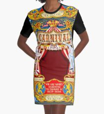 Circus Carnival Invite Poster Graphic T-Shirt Dress