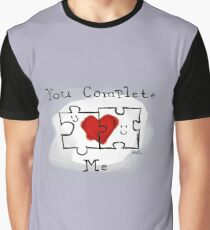 You Complete Me -Autistic Love  Graphic T-Shirt
