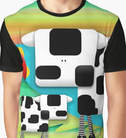 Moo Cow Sunrise Family Graphic T-Shirt