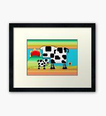 Moo Cow Sunrise Family Framed Print