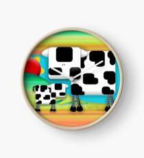 Moo Cow Sunrise Family Clock