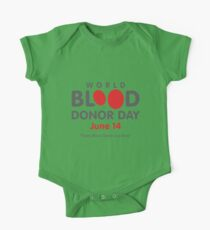 World Blood Donor Day June - World Blood Donor Day Organ Donor Blood Donation One Piece - Short Sleeve