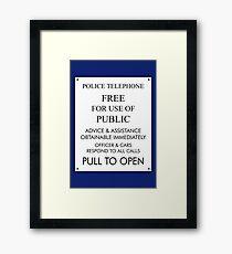 Tardis Sign/ Policebox Notice Framed Print