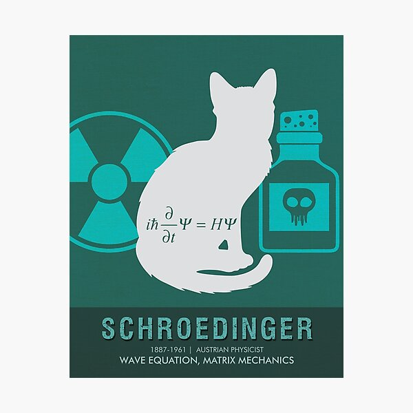 Wissenschaft Poster - Erwin Schrödinger - Physiker Fotodruck