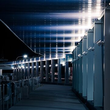 Pier Walk at Night by infinitephotos