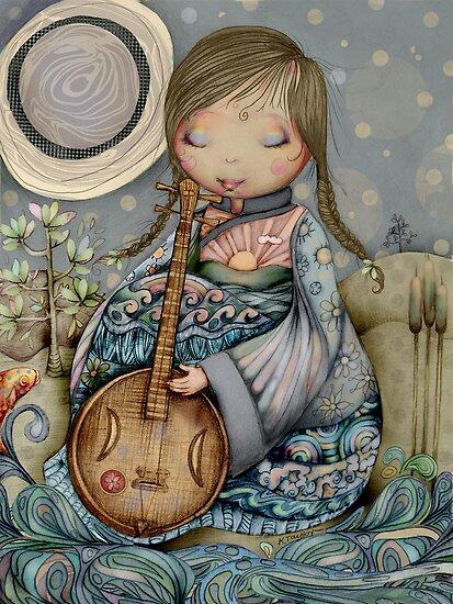 Moon Guitar by © Karin Taylor