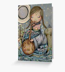Moon Guitar Greeting Card