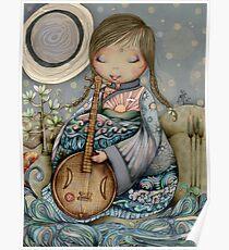 Moon Guitar Poster