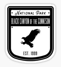 Black Canyon of the Gunnison National Park Colorado Badge Design Sticker