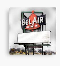 bel air drive-in, route 66, illinois Canvas Print