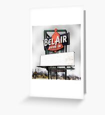 bel air drive-in, route 66, illinois Greeting Card
