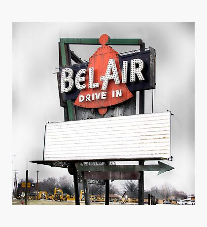 bel air drive-in, route 66, illinois Photographic Print