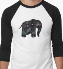 black embroidered elephant T-Shirt