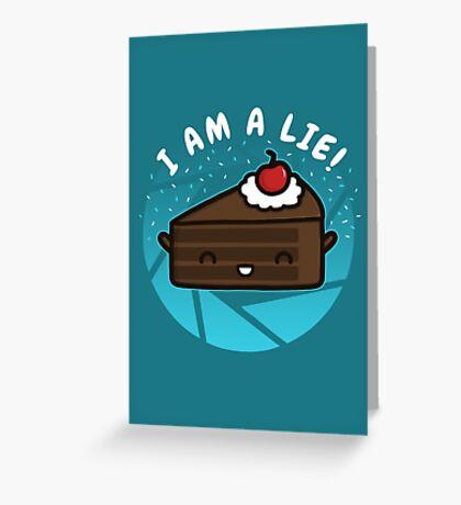 I Am A Lie Greeting Card