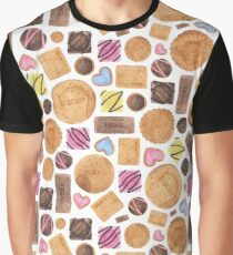 Selection of Sweets, Candy, Cakes and Biscuits Graphic T-Shirt