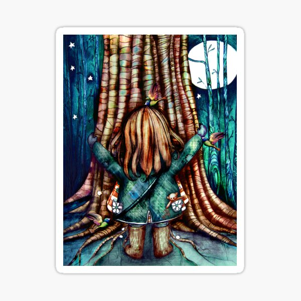 Tree Hugs Sticker