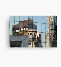 Stephansplatz, Vienna, Austria. Abstract reflection in high-rise windows  Canvas Print