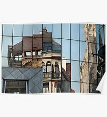 Stephansplatz, Vienna, Austria. Abstract reflection in high-rise windows  Poster