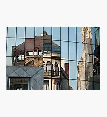Stephansplatz, Vienna, Austria. Abstract reflection in high-rise windows  Photographic Print