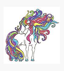 Rainbow Pony Photographic Print