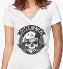 Outer Heaven - (MGSV) Women's Fitted V-Neck T-Shirt