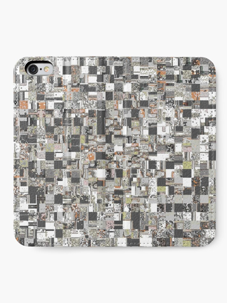 Alternate view of Geometric Jumble of Colors And Textures iPhone Wallet