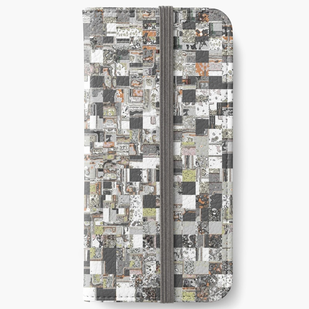 Geometric Jumble of Colors And Textures iPhone Wallet