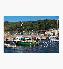 Attracting Attention — Lyme Regis Harbour Photographic Print