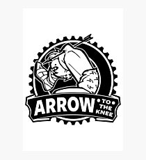 Arrow To The Knee Photographic Print