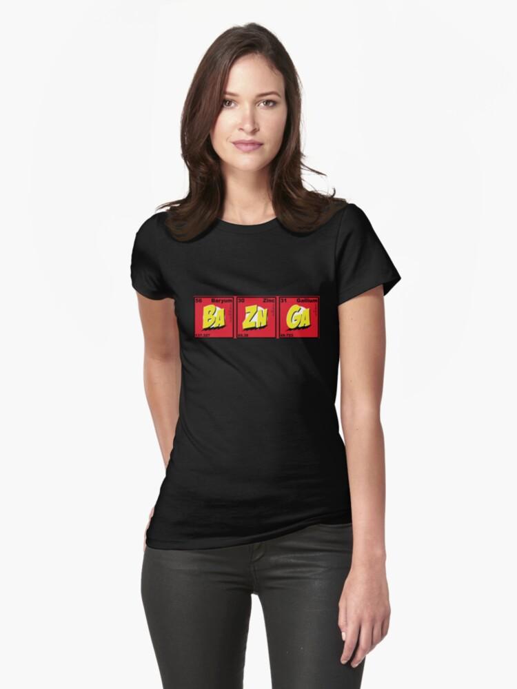 Bazinga- Ba Zn Ga Womens T-Shirt Front