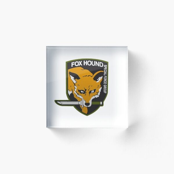 Fox Hound Special Force Group Acrylic Block