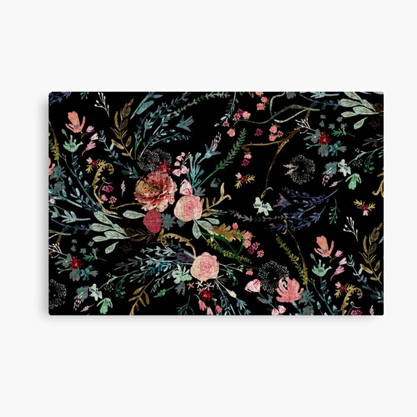 Midnight Floral Canvas Print