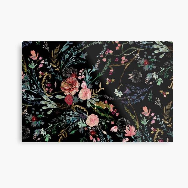 Midnight Floral Metal Print