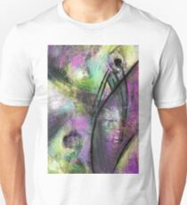 Abstract with purple and green T-Shirt